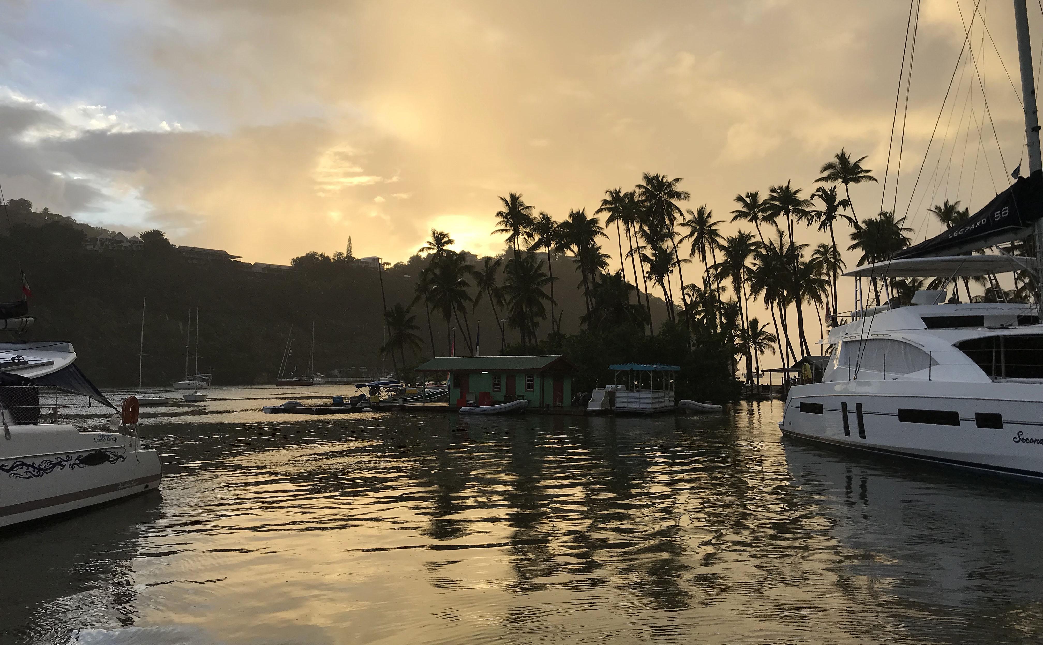 Marigot bay catamaran katamaran sailing seiling